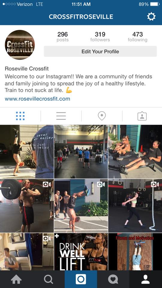 CrossFit Roseville Instagram