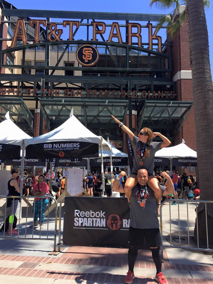 Jenn & Dave at the Spartan Sprint