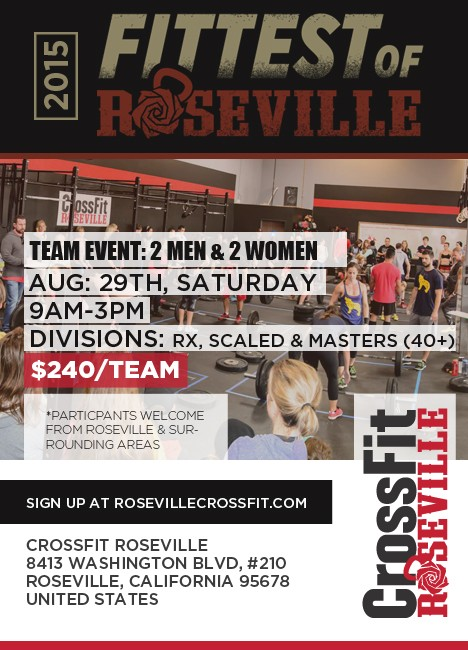 2015 Fittest of Roseville, get your team ready!
