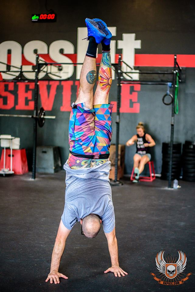 Joey Showing his Colors at Roseville CrossFit
