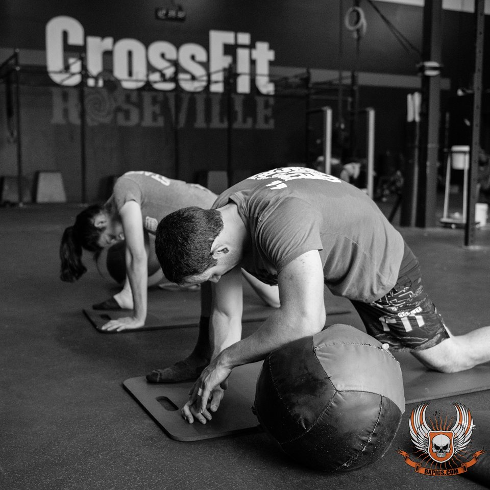 Chris Nelson and Kristin with ROMWOD at Roseville CrossFit