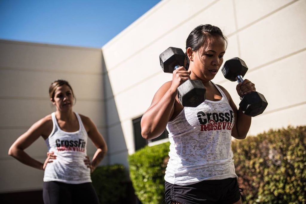 Jessica and Jhoana at CrossFit Roseville