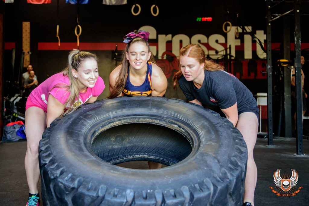 Lo, Lexi, and Lana at CrossFit Roseville