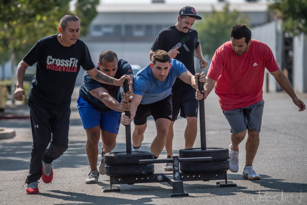 Group CrossFit Class at CrossFit Roseville