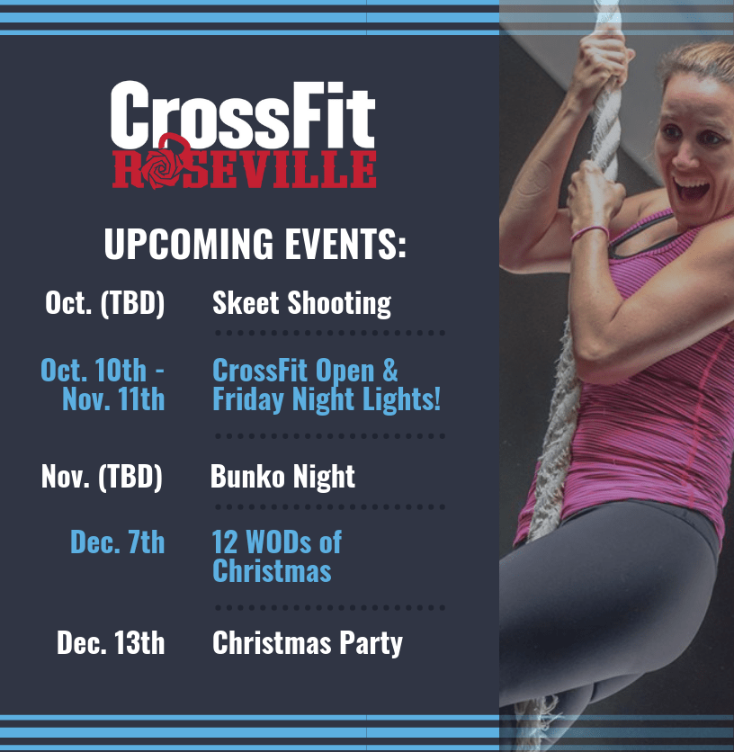 CrossFit Roseville Fall 2019 Events