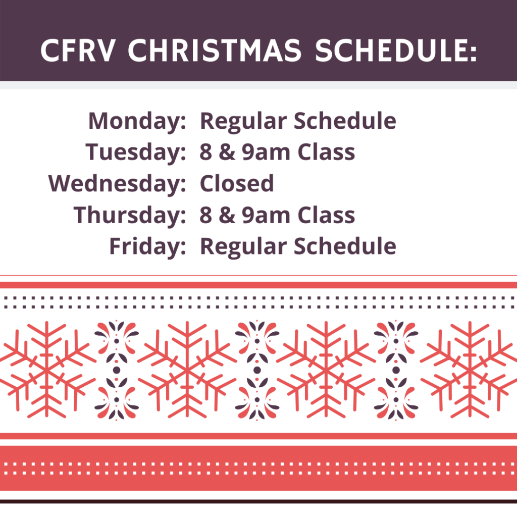 2019 Christmas Schedule CFRV